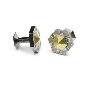 Scifi HEX-U hexagon cufflinks.| Scifi HEX-U kuusikulmaiset Kalvosinnapit. | Design Kultaseppä Goldsmith Petri Pulliainen.