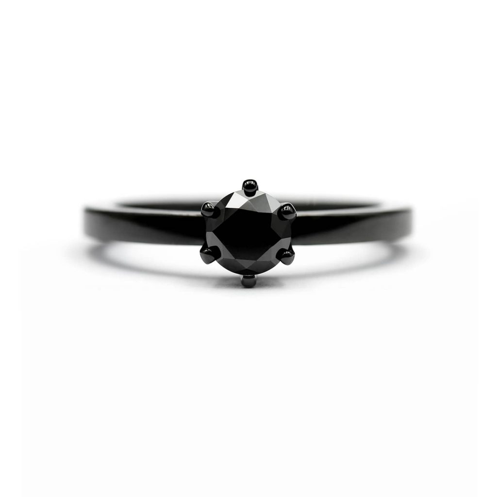 Black Solitaire diamond ring. | Tumma Solitaire timanttisormus | Design Kultaseppä Goldsmith Petri Pulliainen Helsinki.